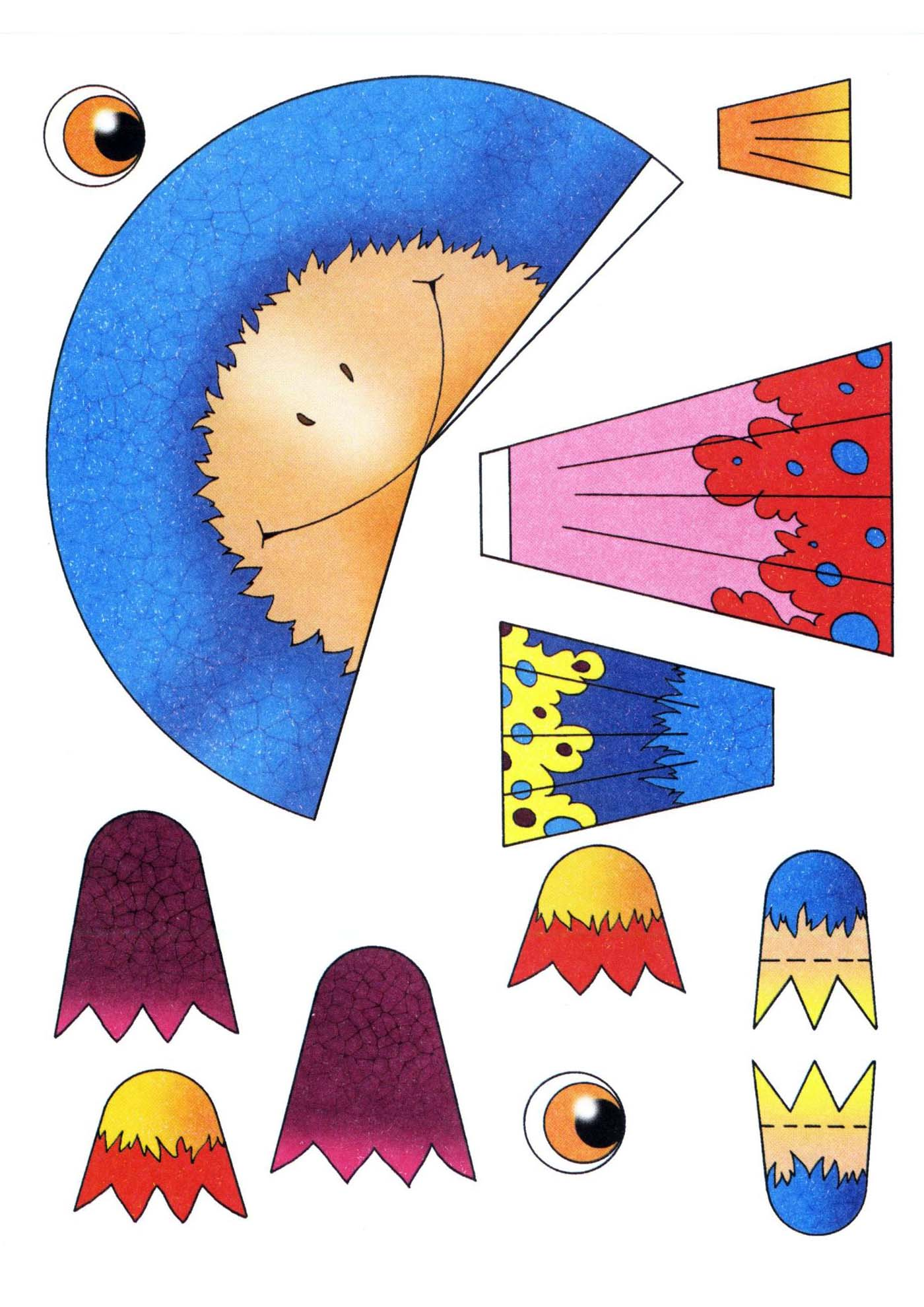 Поделки для детей шаблон