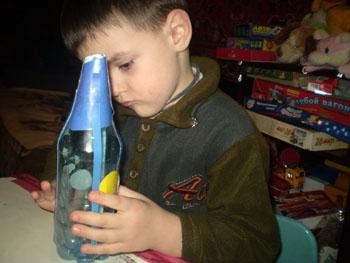 Поделка ракета с ребенком