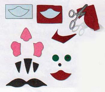 Носик для поделки распечатать