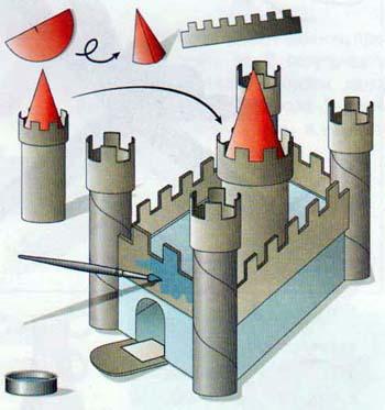 Сделать своими руками из картона башню