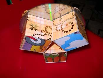 Поделки с детьми из лазерных дисков